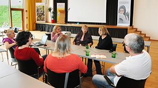 Diskussionsrunde mit Frau Gertraud Schaffer Präsidentin ÖRL